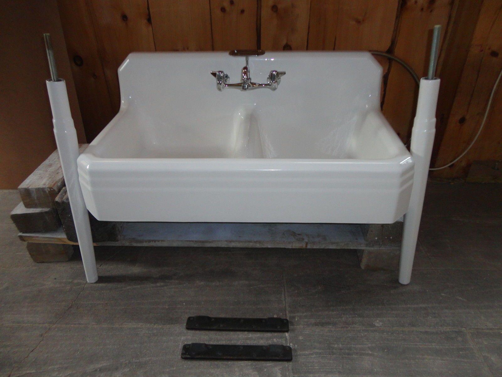Cast Iron Farm Farmhouse Vintage Apron Kitchen Sink U0026 Legs