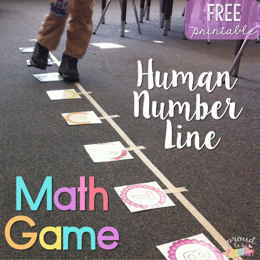Human Number Line Math Game | Primary class | Pinterest | Kids moves ...