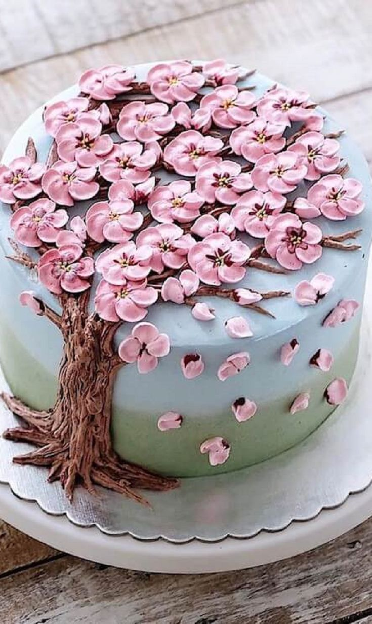 Pleasant 30 Beautiful Flower Cakes To Celebrate Spring In The Most Yummy Funny Birthday Cards Online Unhofree Goldxyz
