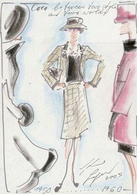 Chanel Skizzen Coco Chanel Pinterest Moda Moda Parisina Und