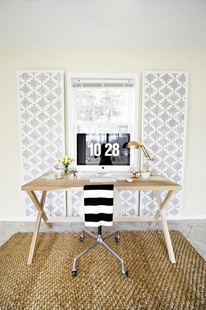 How to hide wires with decorative stenciled panels sarah m