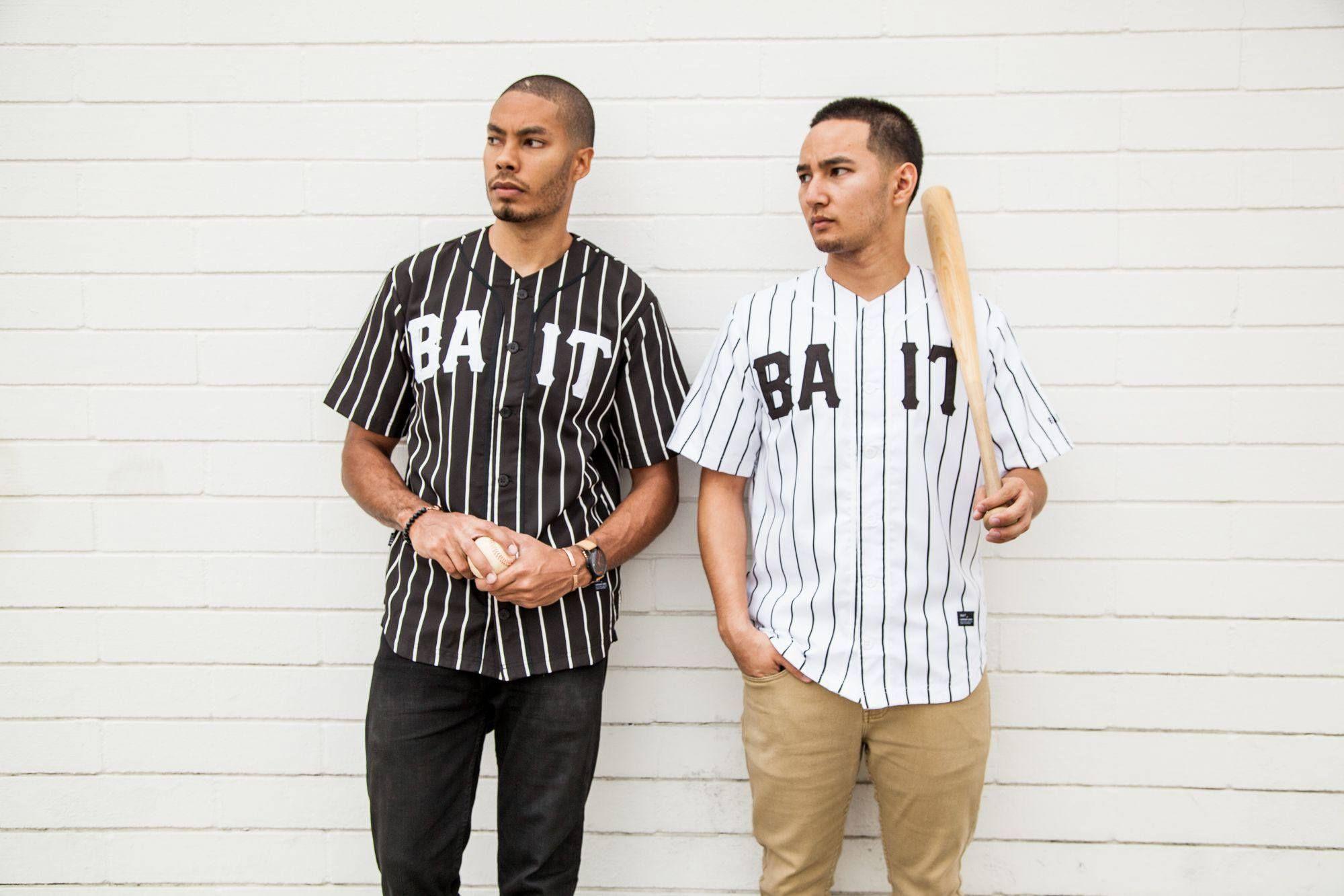 BAIT Men Sluggers Baseball Jersey black gray