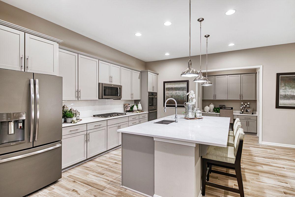 Expansive Center Island Decker Model Home Kitchen Winchester