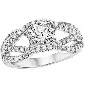 Split Shank engagement ring white gold engagement ring Andrews