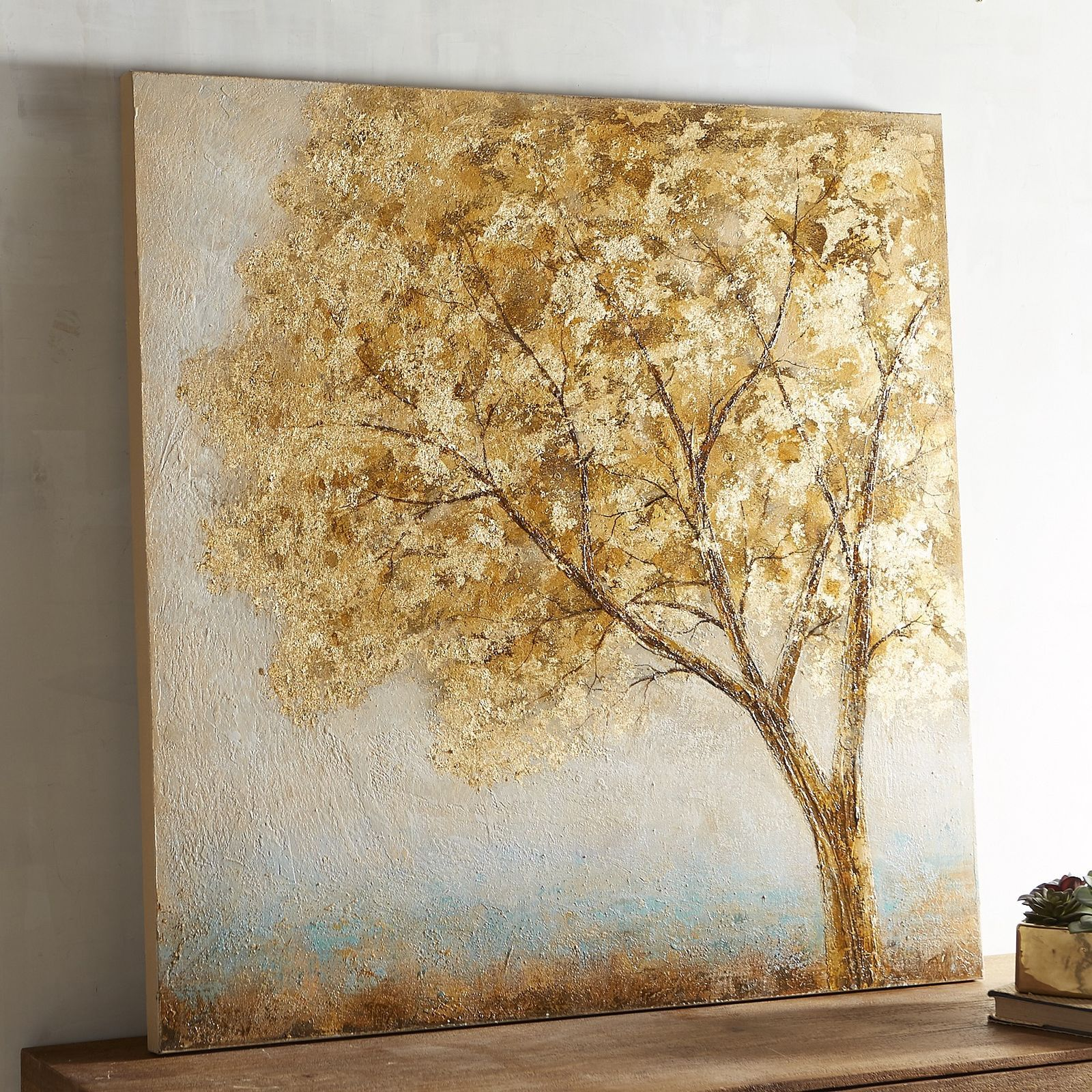 Gilded Single Tree Art Golden Treediy Wall Artcanvas