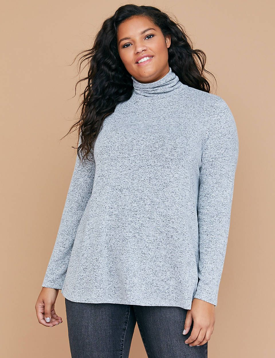 da4d3e04ae4 Lane Bryant Hacci Swing Turtleneck Top in 2019