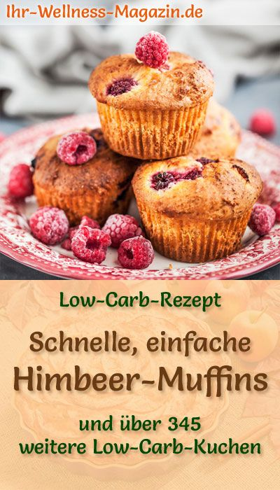 Schnelle, einfache Himbeer-Muffins - Low-Carb-Rezept ohne Zucker