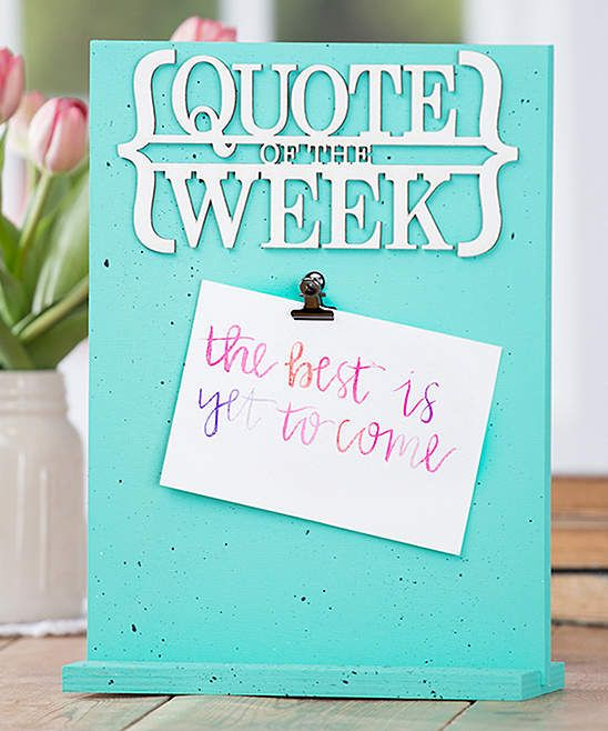 Aqua \'Quote of the Week\' Hand-Painted Frame. Get this unique frame ...