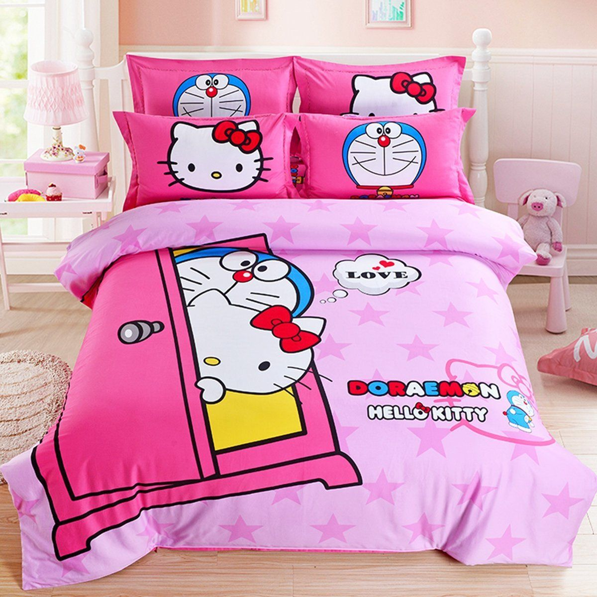 CASA 100 Cotton Brushed Kids bedding Hello Kitty and