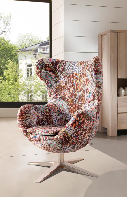 Sam Design Armlehn Stuhl In Bunt Muster 4620 Cg12 Tchoonie Wohnen