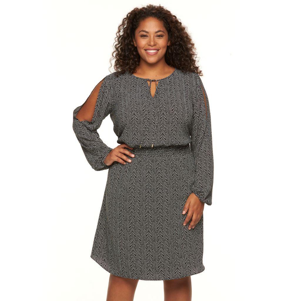 Plus Size Apt 9 Cold Shoulder Crepe Dress Kohls Dresses Kohls Dresses Crepe Dress [ 1024 x 1024 Pixel ]