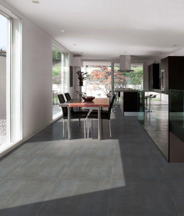 Dark grey floor   Pavimento grigio, Pavimenti soggiorno ...
