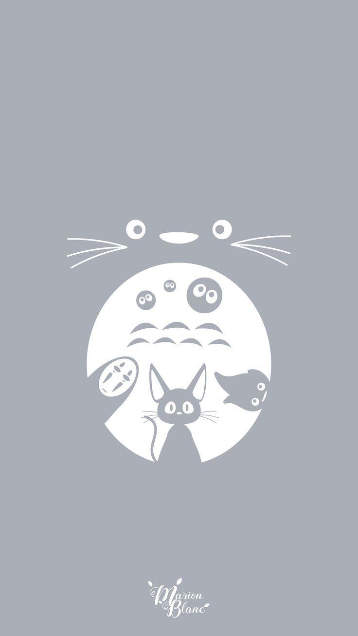 Ghibli marion blanc totoro studio ghibli ghibli - Totoro wallpaper iphone ...