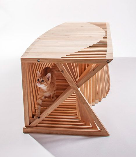Architecture for Animals cat house by Formation Association and Edgar Arcaneaux