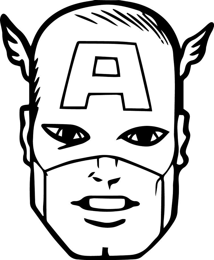 Captain America Face Coloring Pages | Coloring Pages Ideas ...