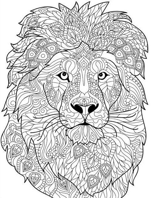 Printable Lion Mandala Coloring Pages