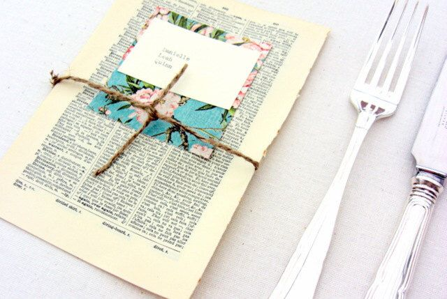 Escort cards, 40 place cards, vintage book pages, rustic weddings by SepiaSmiles on Etsy https://www.etsy.com/listing/156703234/escort-cards-40-place-cards-vintage-book