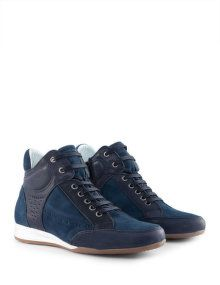JJ Footwear Leather trainers with zip in Blue / Blue