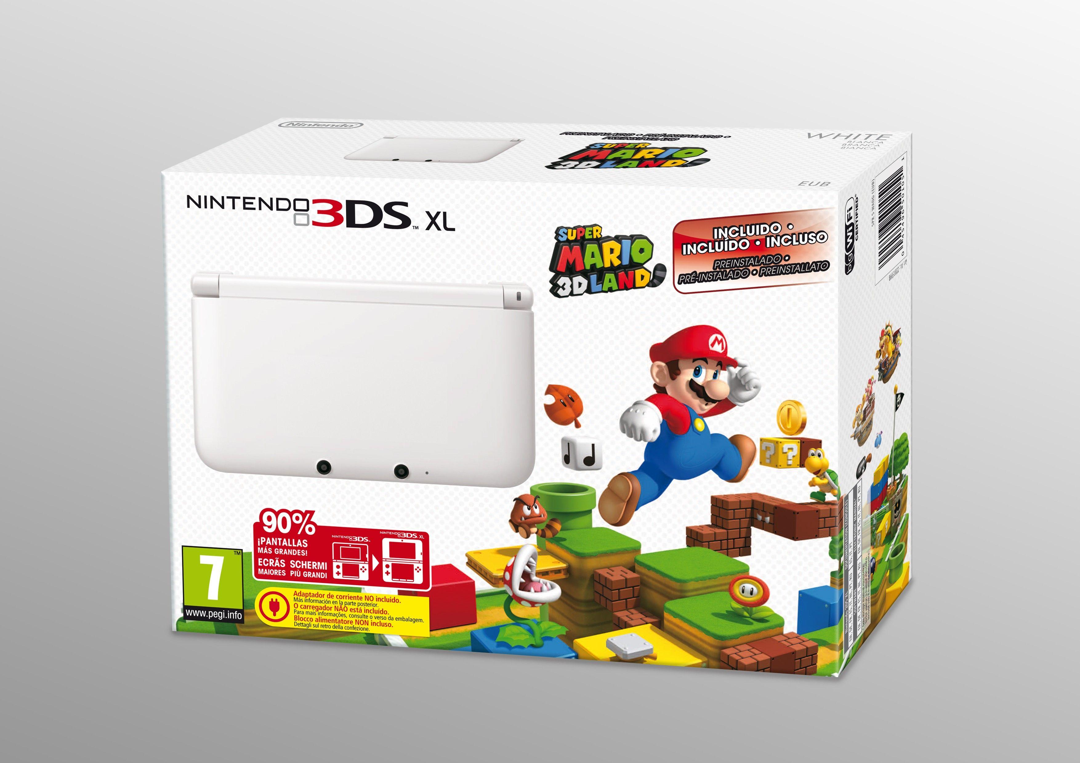 Nintendo 3DS XL edición blanca con Super Mario 3D Land | Ediciones ...