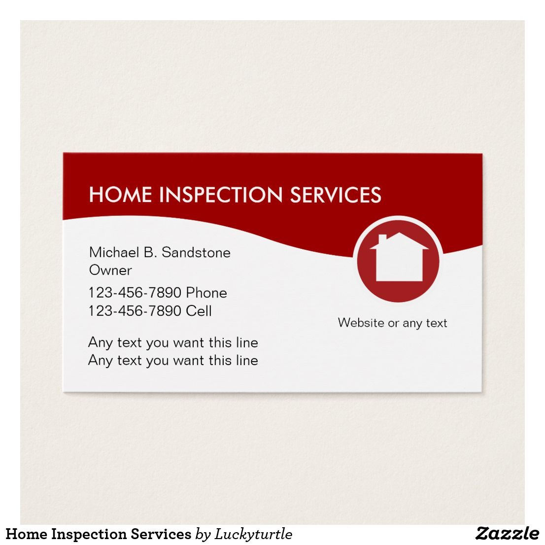 Home Inspection Services Business Card