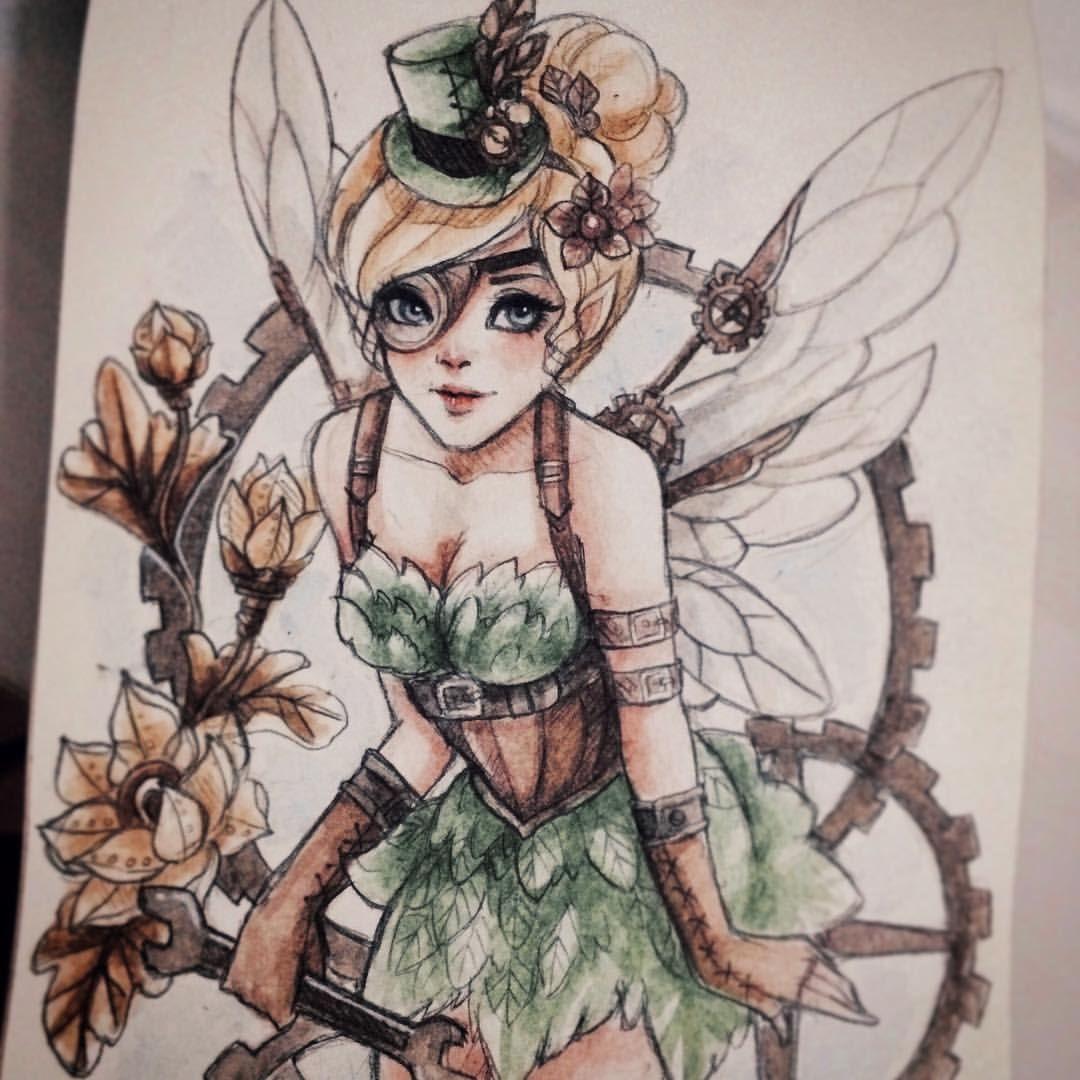 Steampunk Tinkerbell Ideias Para Desenho