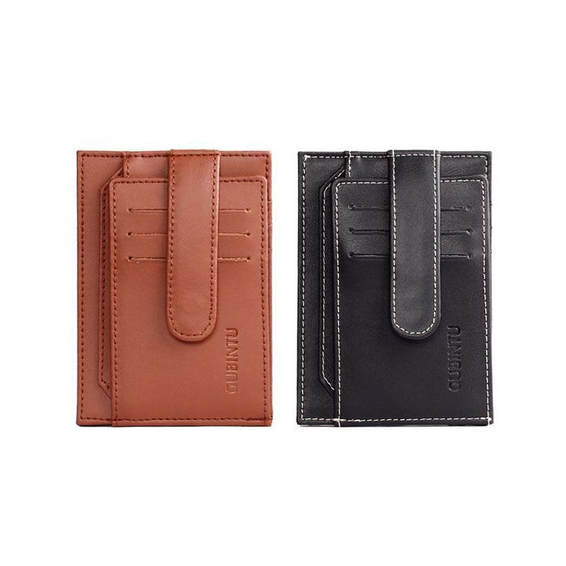 Brand Men Credit Card Holder Genuine Cow Leather Card Wallet Fashion