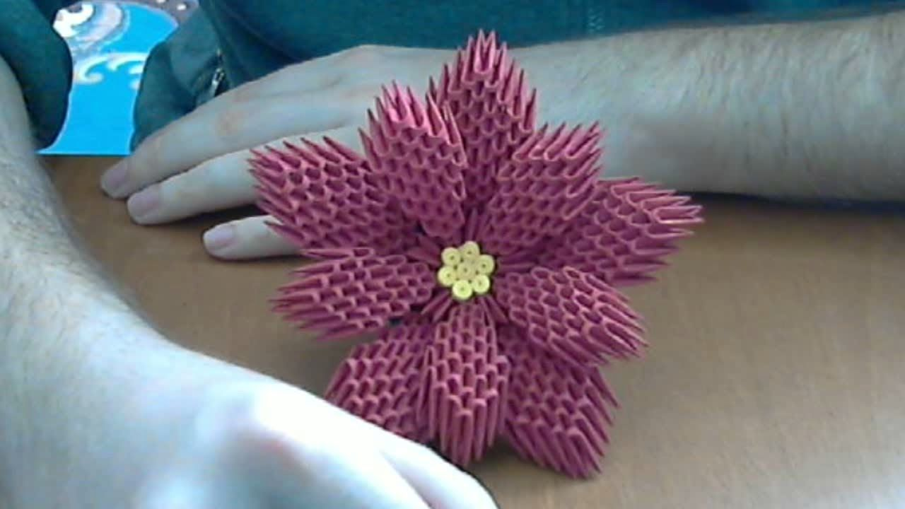 How to make 3d origami flower poinsettia flower origami 3d how to make 3d origami flower poinsettia flower mightylinksfo