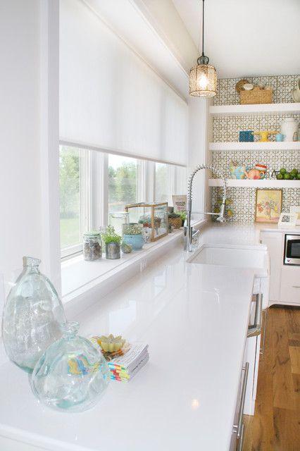 30 Impressive Kitchen Window Treatment Ideas ME CASA Pinterest