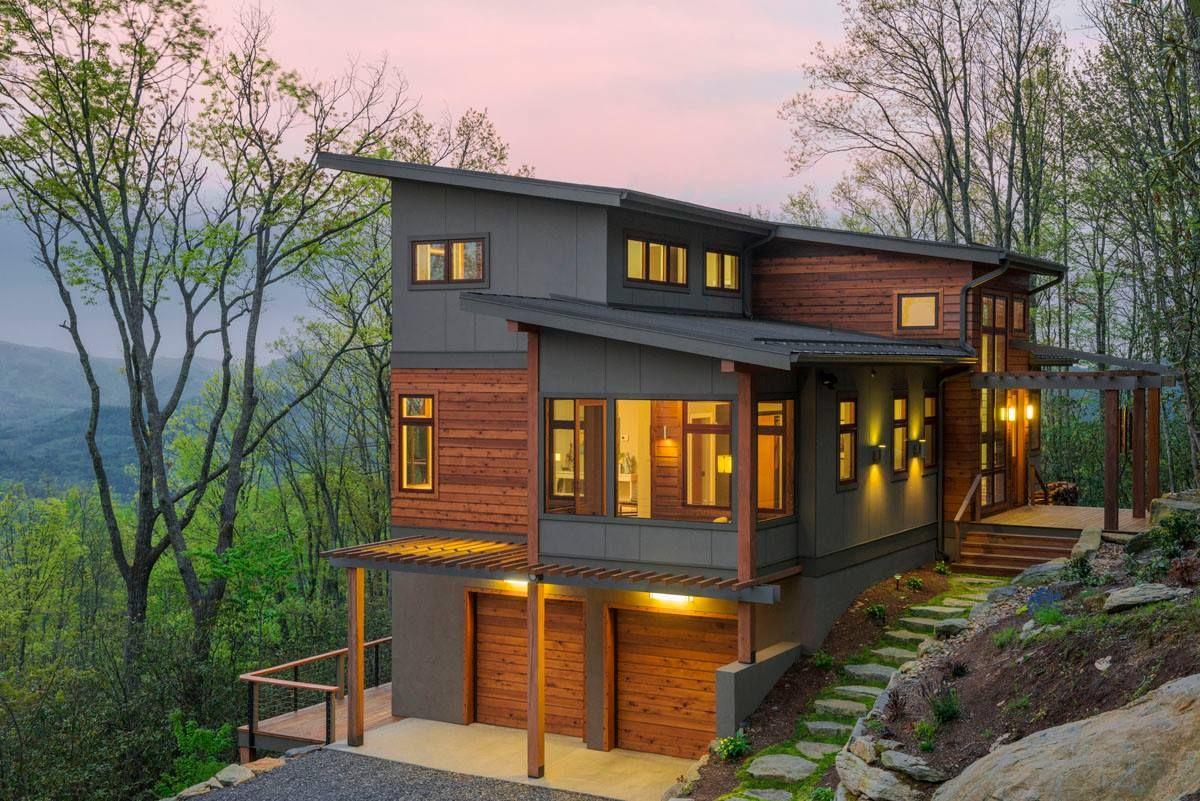 Modern And Stylish Exterior Design Ideas Modern Lake House Lake