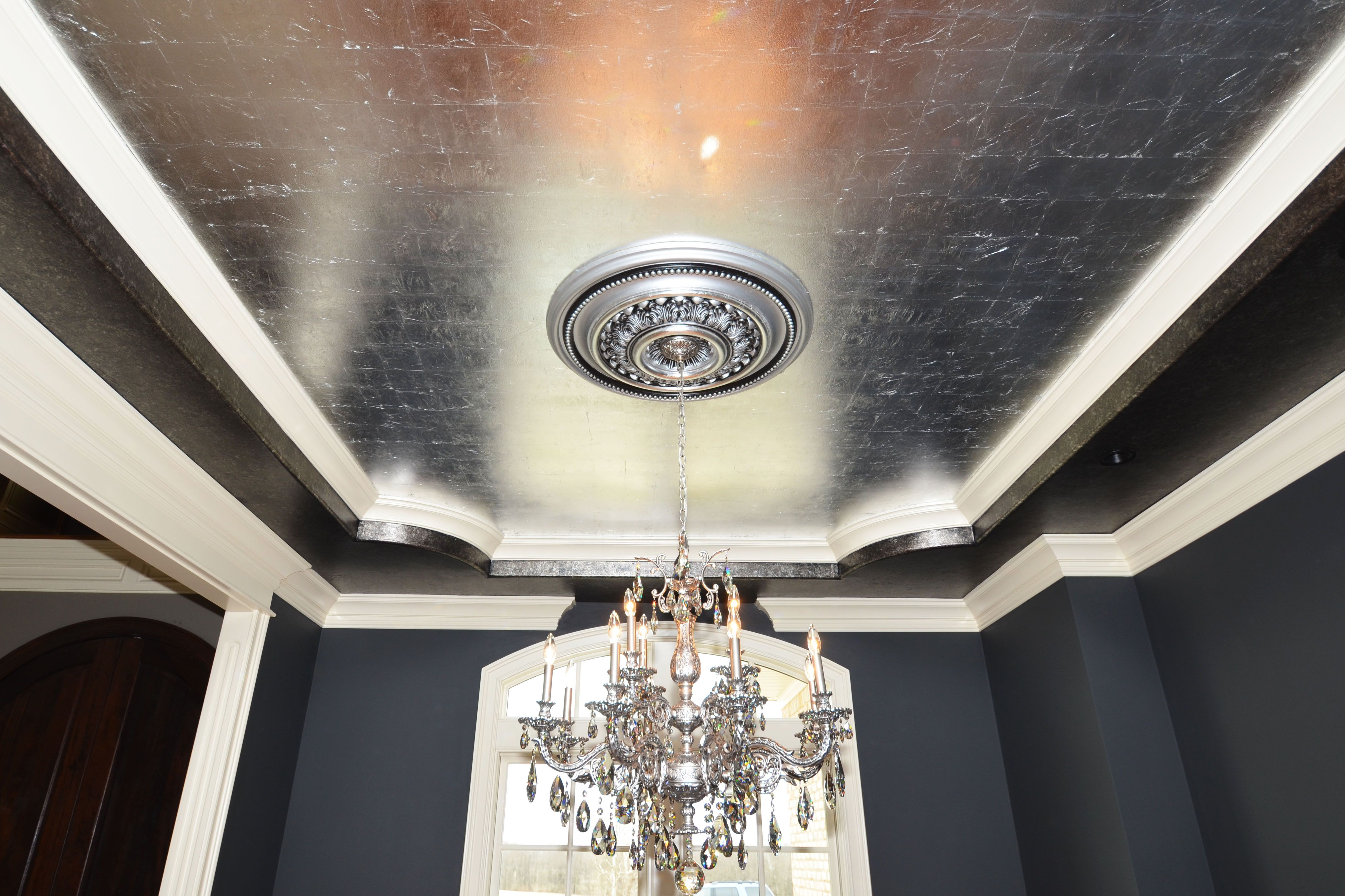 Tray Ceiling With Metallic Paint Biltmore Www Jimmynashhomes Com Ceiling Treatments Tray Ceiling Metallic Paint
