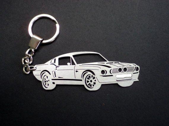 Black Ford Mustang Car Keyring Birthday Gift