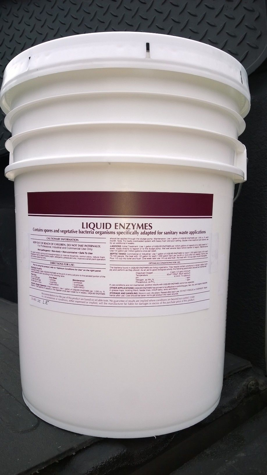 5 Gal Pail Natural Drain Line Grease Trap Septic Tank Liquid Enzymes Cleaner Non Toxic Non Corrosive Biodegradable Products Nontoxic Cleaners Septic System