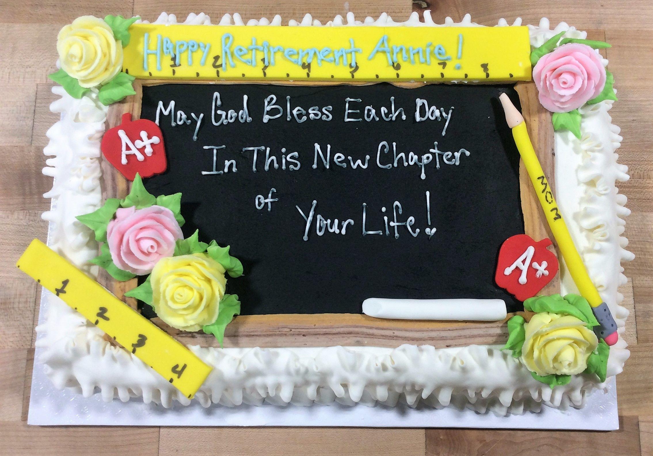 Teacher Retirement Sheet Cake Teacher Retirement