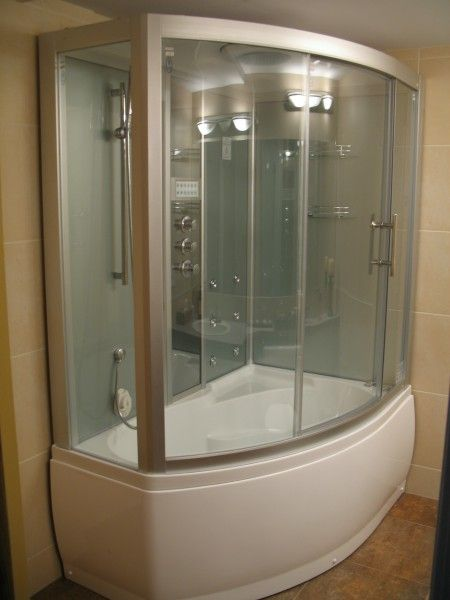 showers tub combinations Steam Shower Whirlpool Bathtub