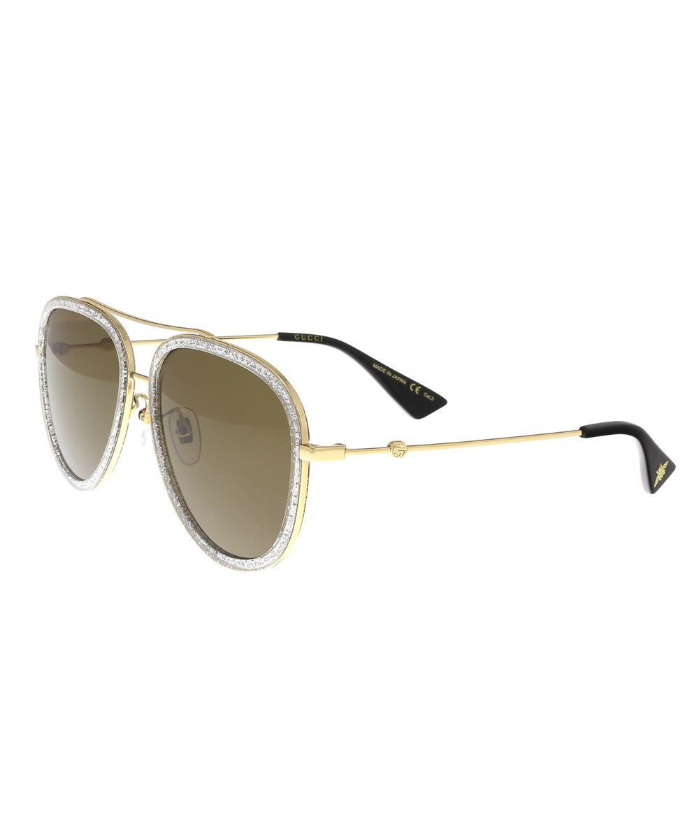 1ccdaf4adb2 GUCCI Gg0062S 004 Gold Silver Aviator Sunglasses .  gucci  sunglasses