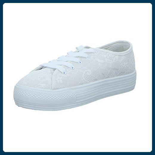 Sneakers 832559101 Damen Leinen Schnürhalbschuh, Größe 39.0