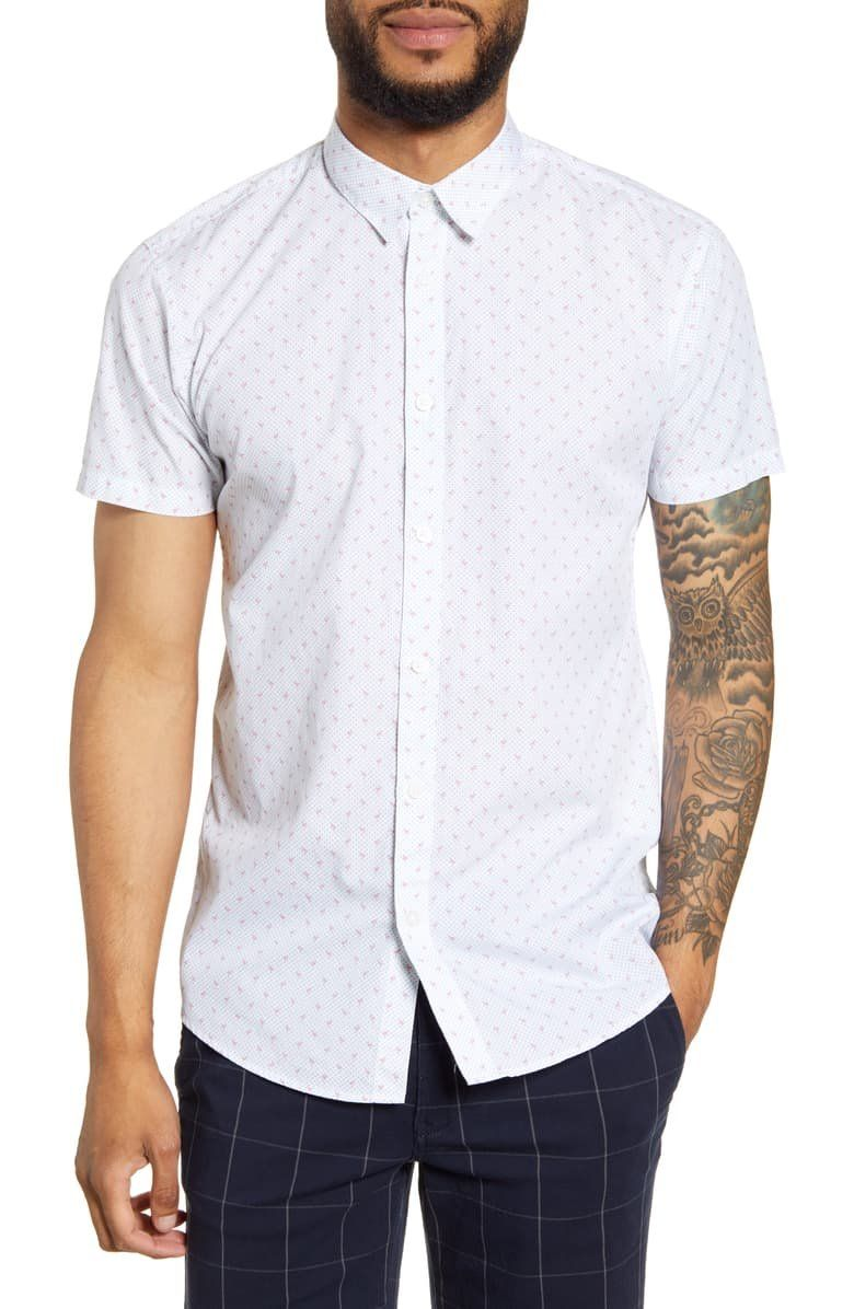 SELECTED HOMME Jack Short Sleeve ButtonUp Shirt in 2020