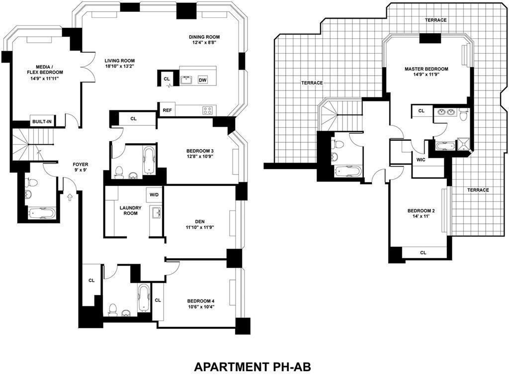 For Rent 345 East 94th St In Yorkville Apartment Floor Plans Floor Plans New York Apartments