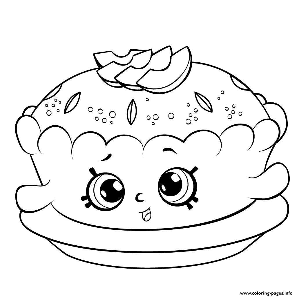Print Shopkins Season 6 Apple Pie Coloring Pages Basia