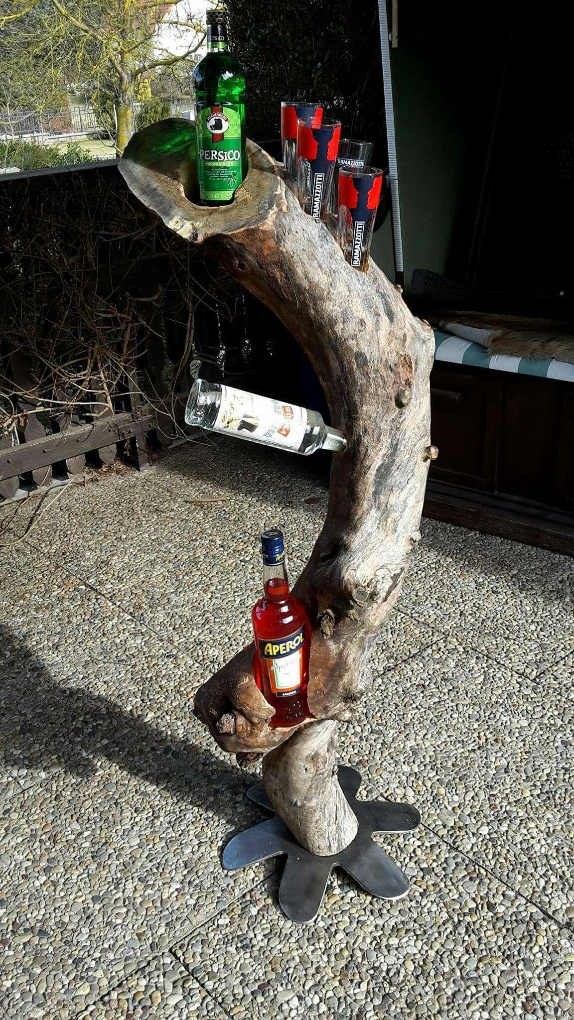 Hausbar aus altem Apfelbaum. | Holz | Pinterest
