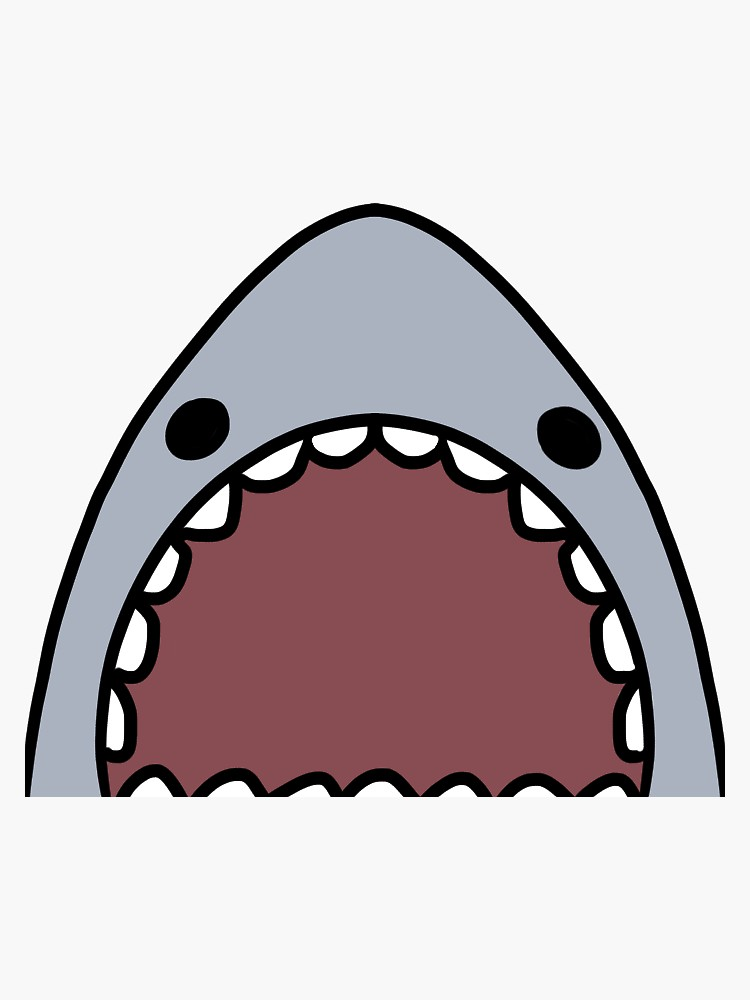 'SHARK!' Sticker by treeglass in 2020 Shark, Cute