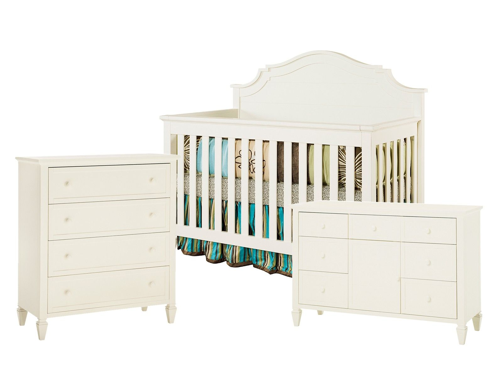 Creations Lullaby Oxford 3 Piece Nursery Set In Antique