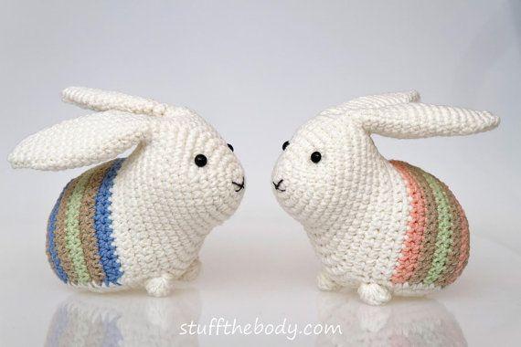 Easter Bunny Amigurumi Pattern, Easter Crochet Pattern, rabbit ...