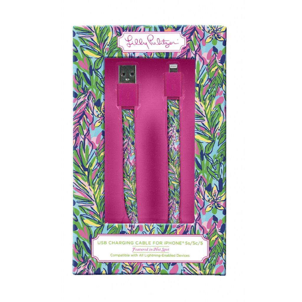 iPhone 5/5s/5c Carging Cord in Hot Spot by Lilly Pulitzer