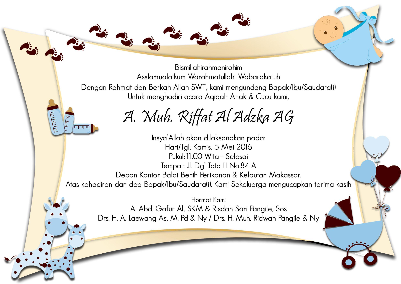 Undangan Aqiqah Create By Nursyafitri Baby Invitations Art Dan