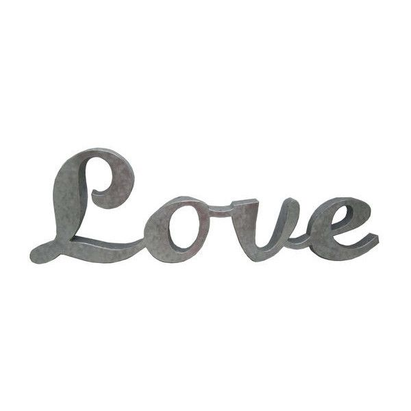 Make Market 3D Galvanized Metal Sign, Love ❤ liked on Polyvore ...