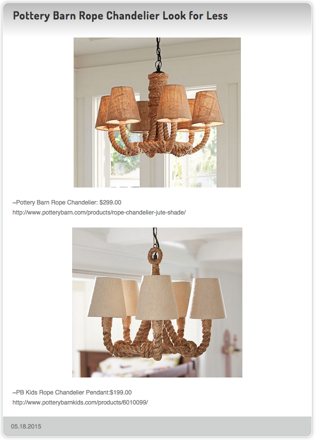 Pottery Barn Rope Chandelier Look For Less Rope Chandelier Pottery Barn Kids Chandelier