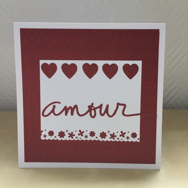 """Carte de félicitations pour un mariage """"amour"""" : Cartes par sab-and-paper"""
