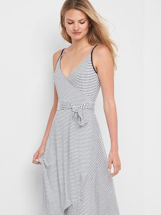 ccc5a7188 Gap Womens Stripe Cami Wrap Dress White Stripe Size XXL | Products ...