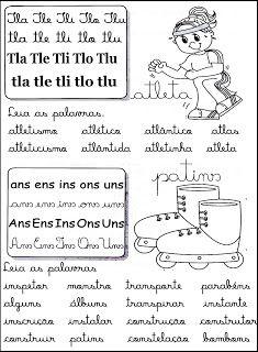 Cantinho Da Educacao Silabas Complexas Fichas De Leitura
